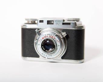 Bolsey B2 Rangefinder Camera 1960s 35mm Film Made in USA Original Leather Case