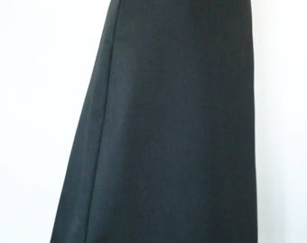 Odette black solid 100% cotton skirt