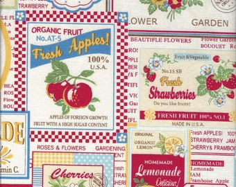 Fruit Labels (Color A) from the 30's Collection by Atsuko Matsuyama for Yuwa of Japan