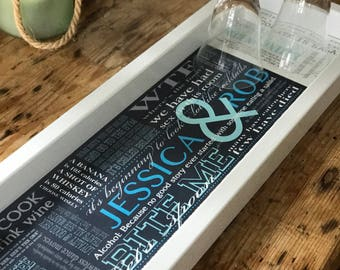 East Coast Bantor, Snarky Shower  Gift, Hysterical  Serving Tray,  Sarcastic Beverage Tray, Inappropriate Custom Bar
