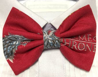 Direwolf on Red Print Bowtie / Bow Tie