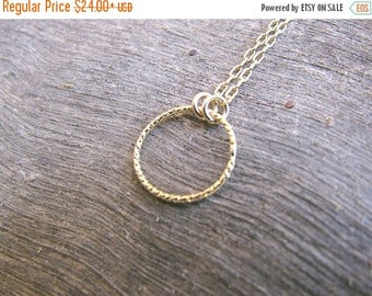 SALE - Circle necklace - small circle necklace, Karma necklace, Circle necklace gold, Eternity necklace, Ring necklace