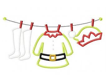Elf Clothesline - Elf's Gear - Christmas Custom Tee Shirt - Customizable