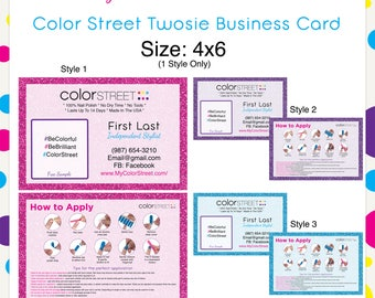 Color Street Twosie Card Glitter 4x6 --Custom Digital Download