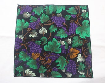 """90's Vintage """"RICH"""" Abstract Patterned Pocket Square"""
