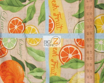 100% Cotton Fabric By SPX Fabrics - Citrus Grove Tree Carols - Sold By The Panel (FH-3644) DIY Clothing Accessories Decor