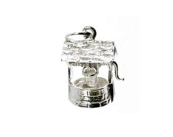 Sterling Silver Moving Wishing Well Charm For Bracelets