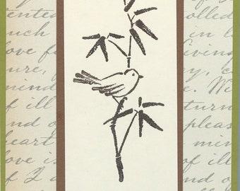 Asian Bird Sympathy Notecards (words inside)   #278
