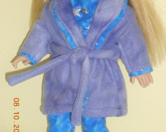 18 inch doll pajamas and robe