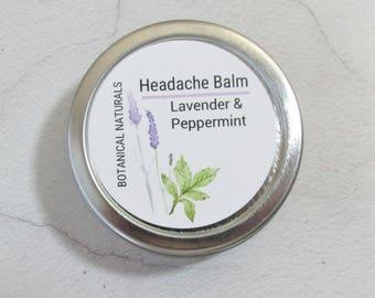 Headache Relief Balm, Lavender Peppermint Aromatherapy