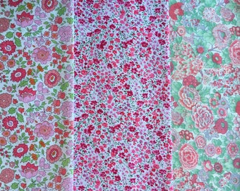 "8"" x 12"" pieces - Pack of 3 Liberty London Tana Lawn"
