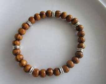 Men's brown beaded bracelet - men's gift - brown men's bracelet - men jewelry - brown bead bracelet - teen male bracelet - gift for men male