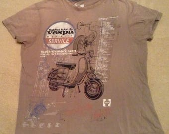 Vintage Vespa Scooter T shirt size XL