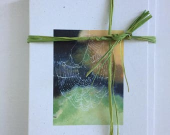 Spider's web notelets-set of five matching