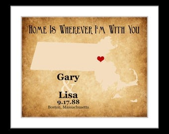 2nd anniversary gift, option for cotton print or canvas, 2nd year anniversary gift, option for cotton, gift idea Any state or long island ny