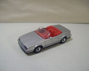 Vintage Matchbox Silver Cadillac Allante Convertible Die cast Car 1987