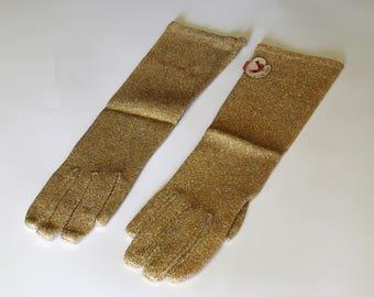 1950's Lurex Knit Gloves