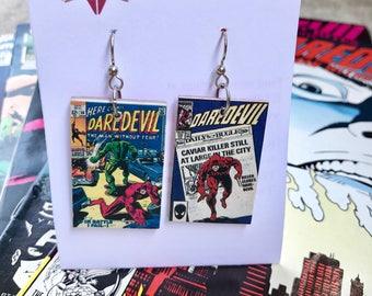 Daredevil Mini-comic Earrings