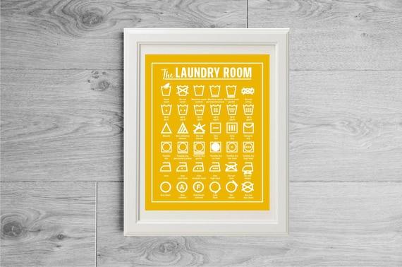Laundry Symbols Wall Art Pleasing Laundry Cheat Sheet Laundry Room Decor Laundry Room Wall Design Decoration