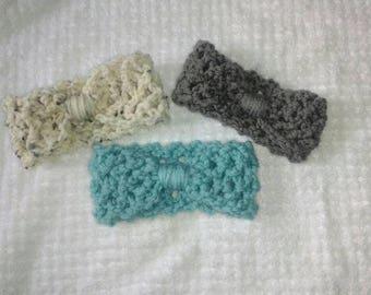 3 pack newborn crochet headbands