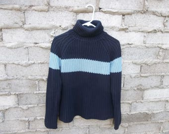 Vintage Sweater Color Block Tommy Hilfiger Fresh Prince Cosby Small 1990s Geometric Hipster  Grunge Distressed Super Chill Textured
