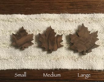 Wood Maple Leaf ~ Lapel Pin, Boutonniere Pin, Jewelry Brooch