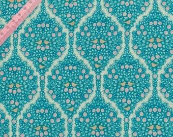 "Tilda Lemonade Blue Fabric / ""Lemon Tree"" Quilt Collection - Full Metre / 1.09 yard"