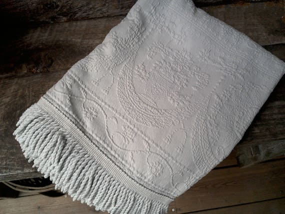 Matelasse Throw matelasse table runner housewarming gift gift for her wedding gift anniversary gift matelasse bedding matelasse textile