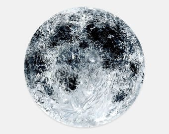 Moon Mousepad, moon painting, moon art, white mousepad, grey mousepad, sky mousepad, moon mouse pad