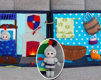 PATTERN & TUTORIAL 2 Quiet book pages Knightbook - Bedroom/bathroom with knight
