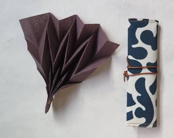 Beautiful hand fan with case, Design for her, summer accesory