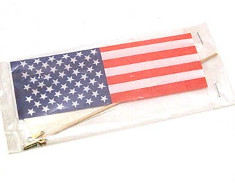 Dollhouse American Flag Kit,  Includes Instructions, Miniatures, Hobby, Patriotic, Flag Pole, New Old Stock