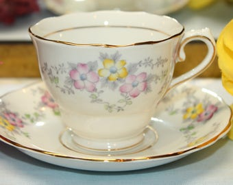 COLCLOUGH Bone China Teacup and Saucer Set  2 Sets Available.