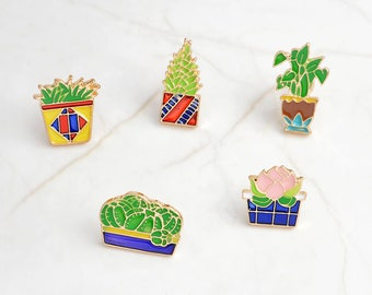 Plant Friends Pins (5 pieces)