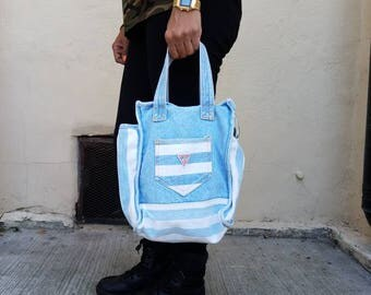 """Vintage Guess """"Baby Blue"""" bag - 90's"""