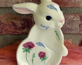 Lenox Rabbit Platter - Poppies on Blue, Small - Vintage - Fabulous!