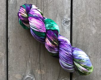 Hand-dyed Yarn - Flourish Colorway - Hand-painted Yarn - Merino Wool Yarn - Indie-dyed Yarn