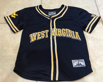 Vintage 90's West Virginia University Baseball Jersey L wvu mountaineers ncaa