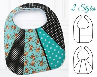 Bib Pattern, Baby sewing pattern, Baby Bib Patterns, PDF Sewing pattern, Baby Bib Pattern, Bib Patterns,  PATCHWORK BIBS