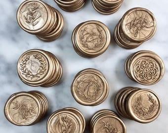 Self Adhesive Wax Seals, Wedding Wax Seals, Wax Seals, Olive Branch Wax Seal, Laurel Wax Seal, Laurel Wax Seals, Wax Seal