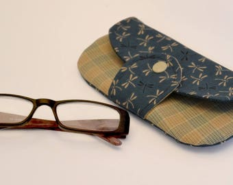 Case or glasses case from as seen in Japanese fabric