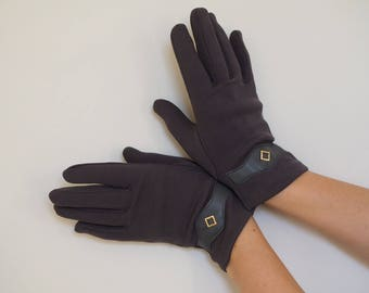 Gloves women // Grey gloves // Vintage gloves // Winter gloves // Driving gloves // Dark grey gloves // One size gloves // Ladies gloves