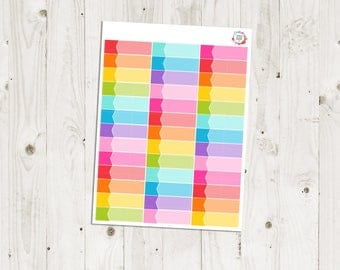36 Rainbow Appointment Labels