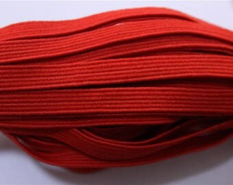 elastic Ribbon 5 meters flat red color