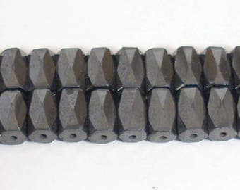 5 5X8mm faceted black magnetic beads