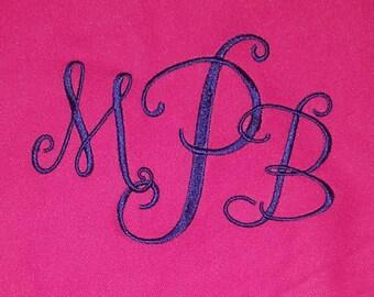 Monogrammed Fleece Throw Blanket