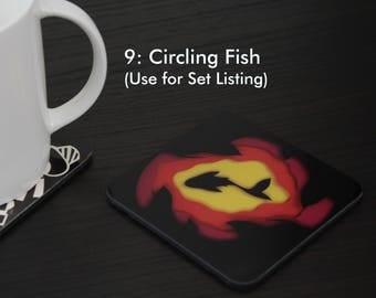 Circling Fish Coaster (#9)