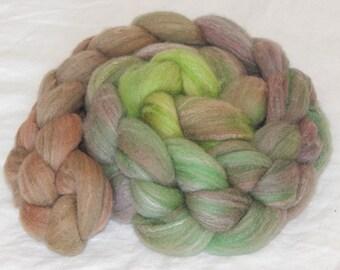 80/10/10 Targhee/Bamboo/Silk fiber, Rosewood, 4 ounces, 113 grams