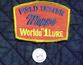 Vintage MEPPS Field Tester Fishing Patch - Collectors Item