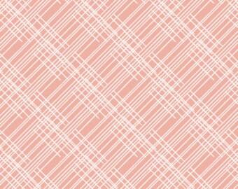 Baby Bedding Crib Bedding - Thatched, Plaid, Pink, Blush - Baby Blanket, Crib Sheet, Crib Skirt, Changing Pad Cover, Boppy Cover